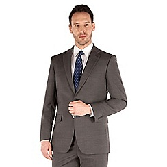 Karl Jackson - Grey stripe 2 button front regular fit washable suit jacket