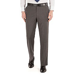 Karl Jackson - Grey stripe regular fit washable suit trouser
