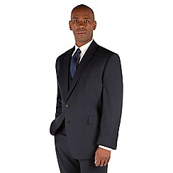 Centaur Big & Tall - Navy semi plain big and tall 2 button suit jacket