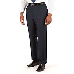 Centaur Big & Tall - Navy semi plain big and tall 2 button suit trouser
