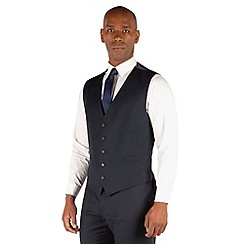 Centaur Big & Tall - Navy semi plain 5 button front suit waistcoat