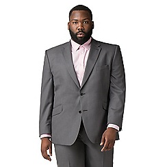Centaur Big & Tall - Charcoal pick and pick  big and tall 2 button regular fit 3 piece suit