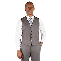 Centaur Big & Tall - Charcoal pick and pick big and tall 5 button front suit waistcoat
