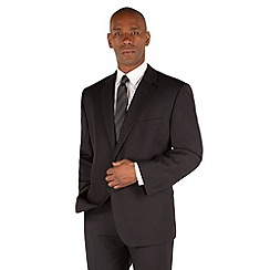 Centaur Big & Tall - Black stripe 2 button front big and tall regular fit suit jacket