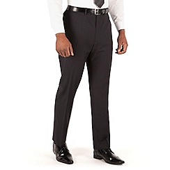 Centaur Big & Tall - Black stripe 2 button front big and tall regular fit suit trouser