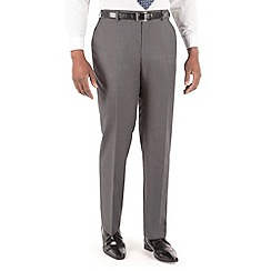 Centaur Big & Tall - Mid grey pindot big and tall suit trouser