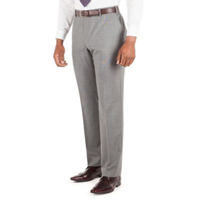 Centaur Big & Tall Grey semi plain big and tall suit