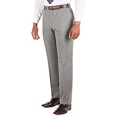 Centaur Big & Tall - Grey semi plain big and tall suit trouser