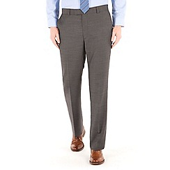 Racing Green - Charcoal pick and pick regular fit suit trouser
