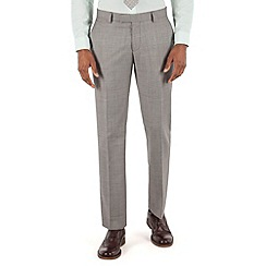Racing Green - Light grey pick and pick tailored fit suit trouser