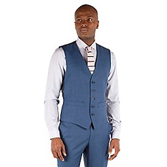 Racing Green - Bright blue pick and pick waistcoat