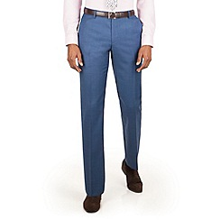 Racing Green - Bright blue pick and pick tailored fit suit trouser