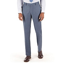 Racing Green - Petrol blue pick and pick tailored fit trouser