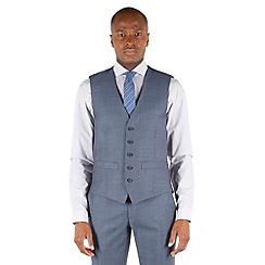 Racing Green - Petrol blue pick and pick waistcoat.