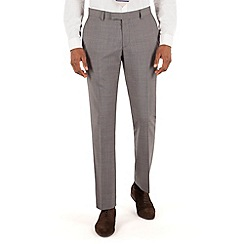 Racing Green - Grey semi plain tailored fit suit trouser