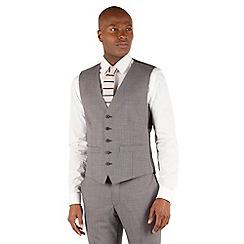 Racing Green - Grey semi plain waistcoat