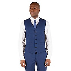 BEN SHERMAN - Bright blue panama slim fit kings suit waistcoat