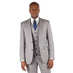 Ben Sherman - Grey heritage check 2 button front slim fit kings suit
