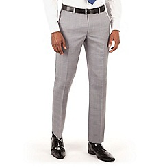 Ben Sherman - Grey heritage check slim fit kings suit trouser