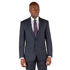 Ben Sherman - Blue heritage check 2 button front slim fit kings suit jacket