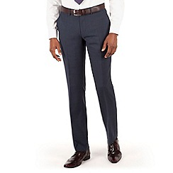 BEN SHERMAN - Blue heritage check slim fit kings suit trouser