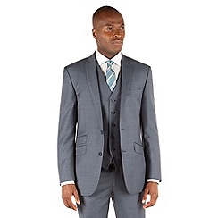 Ben Sherman - Airforce blue plain 2 button front slim fit kings 3 piece suit