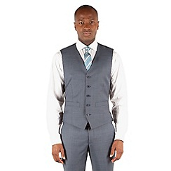 Ben Sherman - Airforce blue plain slim fit kings suit waistcoat.