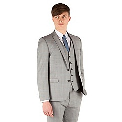 BEN SHERMAN - Prince of wales check 2 button front super slim fit camden suit jacket