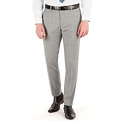 BEN SHERMAN - Prince of wales check plain front super slim fit camden suit trouser