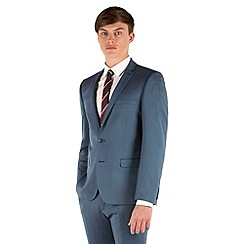 BEN SHERMAN - Teal tonic 2 button front super slim fit camden suit jacket