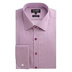 Stvdio by Jeff Banks - Stvdio by Jeff Banks Pink Square Jacquard Fine Stripe