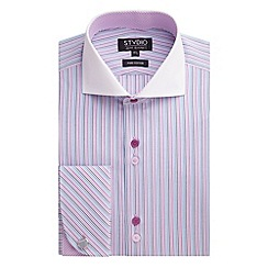 Stvdio by Jeff Banks - Pink Multi Stripe Shirt