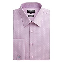 Stvdio by Jeff Banks - Pink Cross Jacquard Shirt