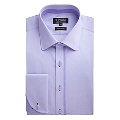 Stvdio by Jeff Banks - Lilac Dobby Squares Shirt