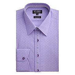 Stvdio by Jeff Banks - Stvdio by Jeff Banks Lilac Jacquard Fine Stripe