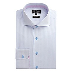Stvdio by Jeff Banks - Stvdio by Jeff Banks Light Blue Textured Stripe Shirt