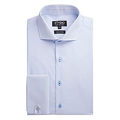 Stvdio by Jeff Banks - Stvdio by Jeff Banks Light Blue Square Jacquard Shirt