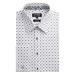 Stvdio by Jeff Banks - White Geo Spot Print Shirt
