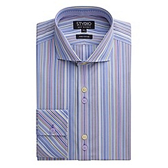 Stvdio by Jeff Banks - Stvdio by Jeff Banks Blue Bright Stripe Shirt