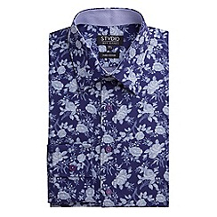 Stvdio by Jeff Banks - Navy Rose Print Shirt