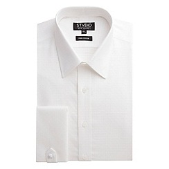 Stvdio by Jeff Banks - Stvdio by Jeff Banks White Cross Jacquard Shirt