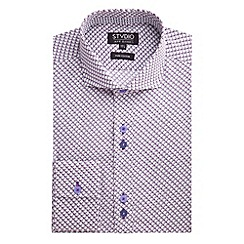 Stvdio by Jeff Banks - Stvdio by Jeff Banks Mulberry Geo Print Shirt
