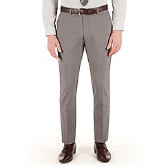 Red Herring - Grey puppytooth slim fit suit trouser
