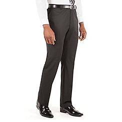 Centaur Big & Tall - Black plain twill big and tall suit trouser