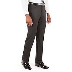 Centaur Big & Tall - Black plain twill big and tall suit trouser