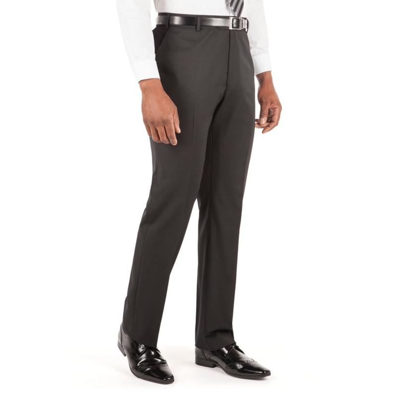 Centaur Big & Tall Black Plain Twill Suit Trouser, Mens,