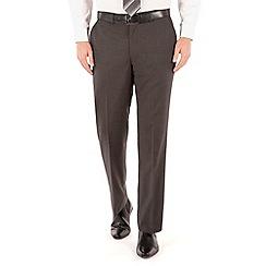 Pierre Cardin - Charcoal puppytooth regular fit trouser