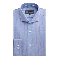 Racing Green - Pablo Oxford Spot Tailored Fit Formal Shirt
