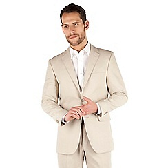 Karl Jackson - Stone linen 2 button front regular fit jacket