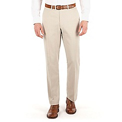 Karl Jackson - Stone linen regular fit trouser.